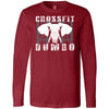 CrossFit Dumbo - 100 - Standard - Bella + Canvas 3501 - Men's Long Sleeve Jersey Tee