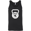 CrossFit BrownNGold - 100 - Kettlebell - Bella + Canvas - Men's Jersey Tank