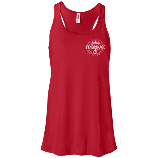 CrossFit L'Engrenage - 100 - Pocket - Bella + Canvas - Women's Flowy Racerback Tank
