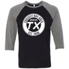 CrossFit Bay Area - 100 - Standard - Bella + Canvas - Men's Three-Quarter Sleeve Baseball T-Shirt