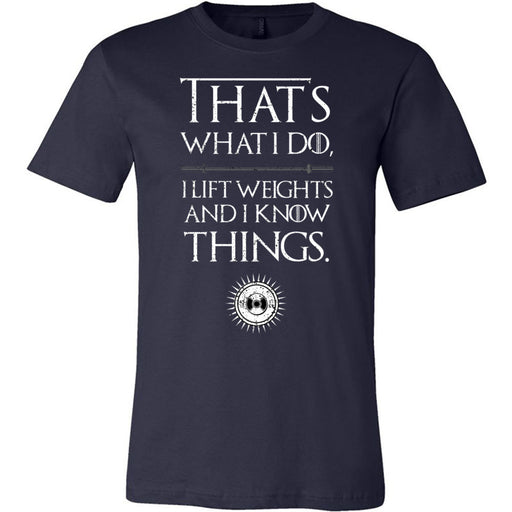 AMP Premium - 100 - I Know Things - Bella + Canvas - Men's Short Sleeve Jersey Tee