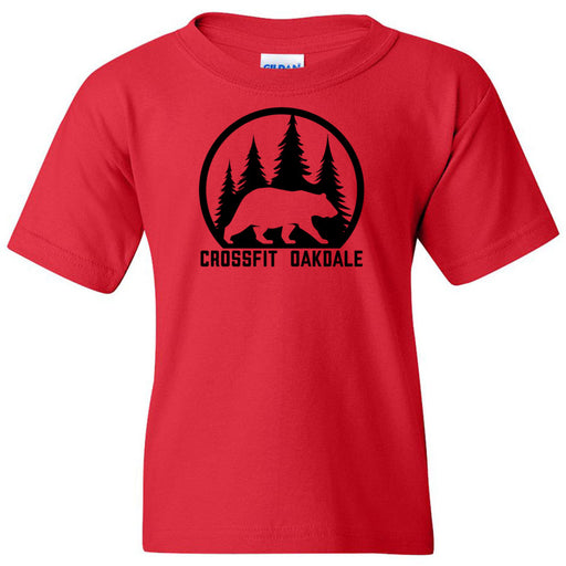 CrossFit Oakdale - 100 - Calibear Black - Gildan - Heavy Cotton Youth T-Shirt