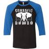 CrossFit Dumbo - 100 - Standard - Bella + Canvas - Men's Three-Quarter Sleeve Baseball T-Shirt