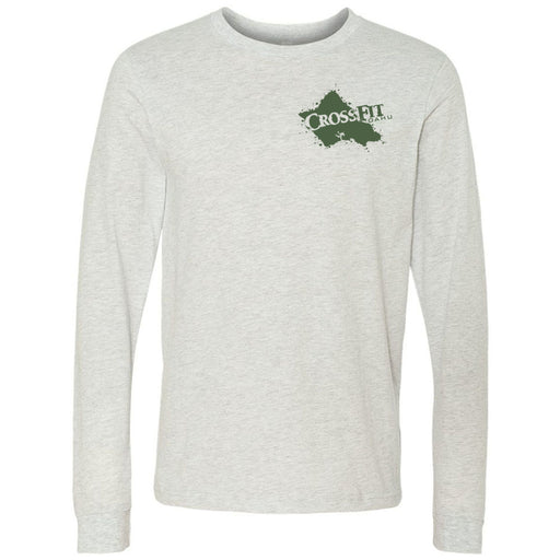 CrossFit Oahu - 202 - Hawaiian Pukie - Bella + Canvas 3501 - Men's Long Sleeve Jersey Tee
