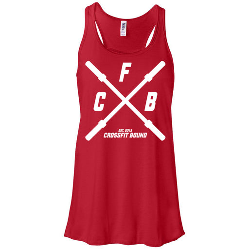 CrossFit Bound - 100 - Barbell - Bella + Canvas - Women's Flowy Racerback Tank