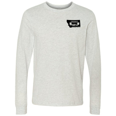 CrossFit Livingston - 100 - Pocket - Bella + Canvas 3501 - Men's Long Sleeve Jersey Tee