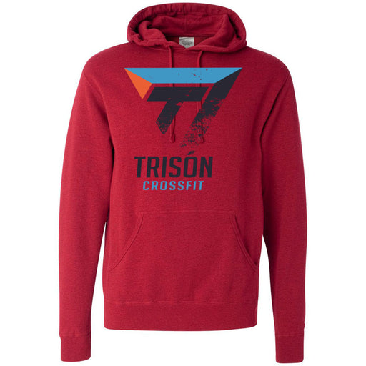Trison CrossFit - 100 - Distressed - Independent - Hooded Pullover Sweatshirt
