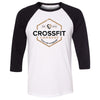 CrossFit Camrose - 100 - Standard - Bella + Canvas - Men's Three-Quarter Sleeve Baseball T-Shirt