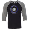 CrossFit Eternal - 100 - Standard - Bella + Canvas - Men's Three-Quarter Sleeve Baseball T-Shirt