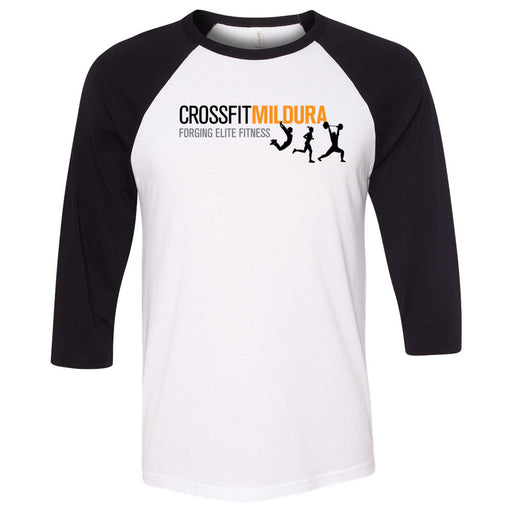 CrossFit Mildura - 100 - Standard - Bella + Canvas - Men's Three-Quarter Sleeve Baseball T-Shirt