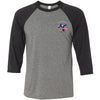 CrossFit North Peoria - 100 - Pocket - Bella + Canvas - Men's Three-Quarter Sleeve Baseball T-Shirt
