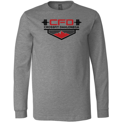 CrossFit Dahlonega - 100 - Standard - Bella + Canvas 3501 - Men's Long Sleeve Jersey Tee