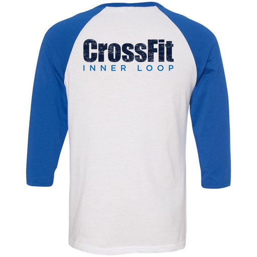 CrossFit Inner Loop - 202 - Pocket - Bella + Canvas - Men's Three-Quarter Sleeve Baseball T-Shirt