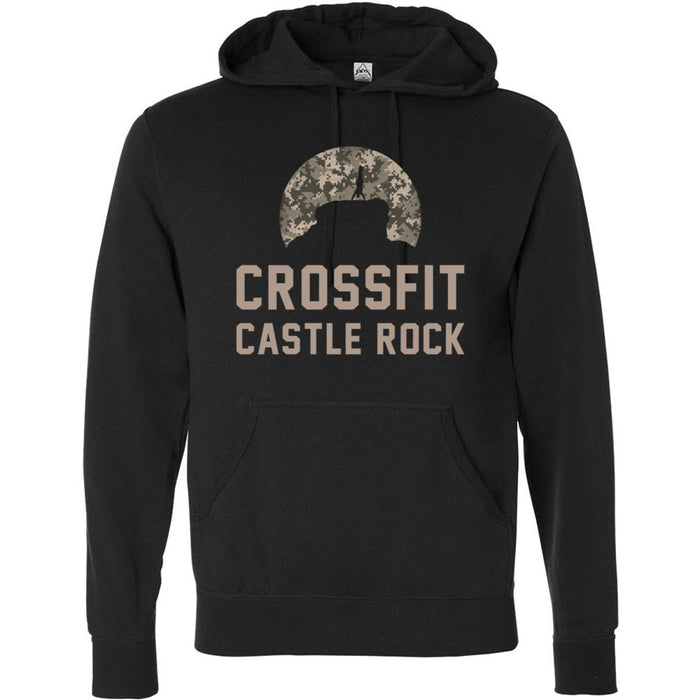 CrossFit Castle Rock - 100 - Camo - Independent - Hooded Pullover Sweatshirt