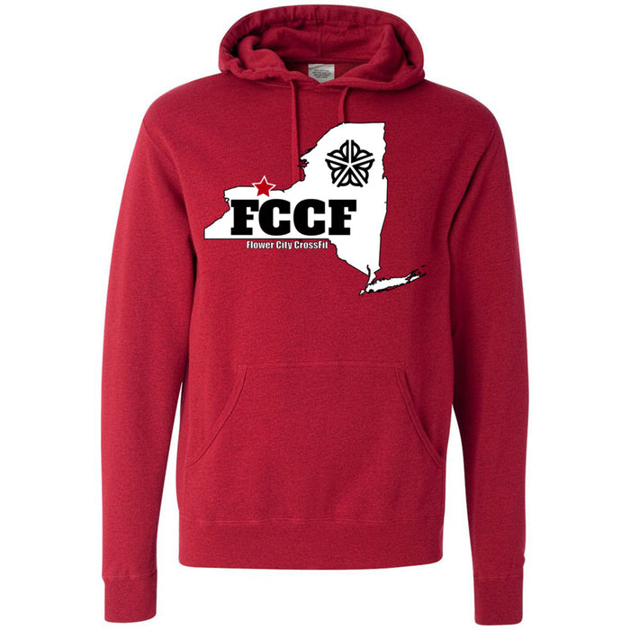 Flower City CrossFit - 100 - NY - Independent - Hooded Pullover Sweatshirt