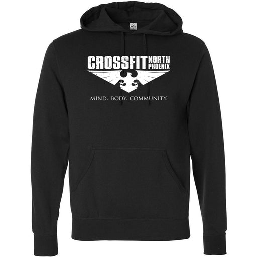 CrossFit North Phoenix - 201 - Eagle Distressed - Independent - Hooded Pullover Sweatshirt