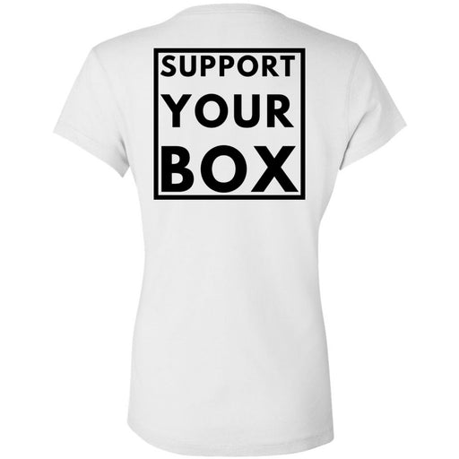 Hub City CrossFit - 200 - Support Your Box - Bella + Canvas - Women's Short Sleeve Jersey V-Neck Tee