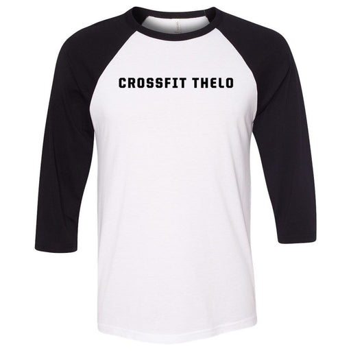 CrossFit Thelo - 100 - New Logo - Bella + Canvas - Men's Three-Quarter Sleeve Baseball T-Shirt