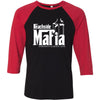 BeachSide CrossFit - 202 - Mafia - Bella + Canvas - Men's Three-Quarter Sleeve Baseball T-Shirt