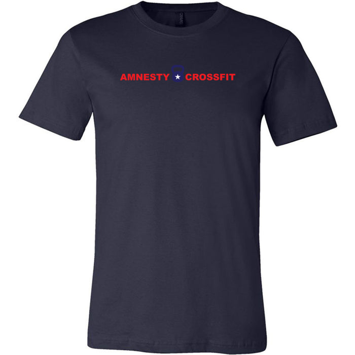 Amnesty CrossFit - Kettlebell - Bella + Canvas - Men's Short Sleeve Jersey Tee