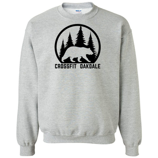 CrossFit Oakdale - 100 - Calibear Black - Gildan - Heavy Blend Crewneck Sweatshirt