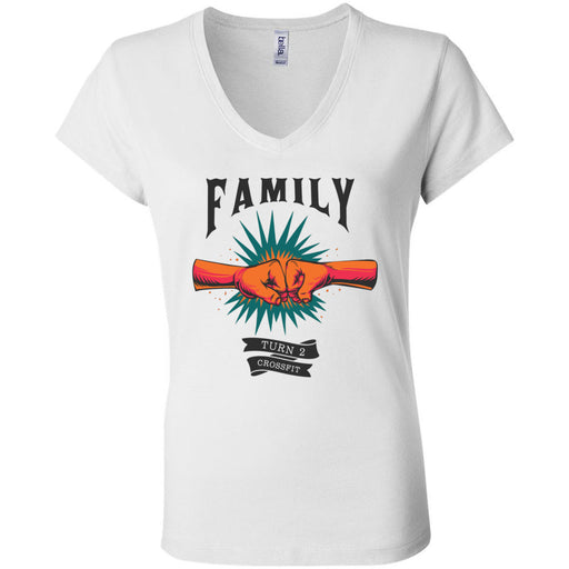Turn 2 CrossFit - 100 - Family - Bella + Canvas - Women's Short Sleeve Jersey V-Neck Tee