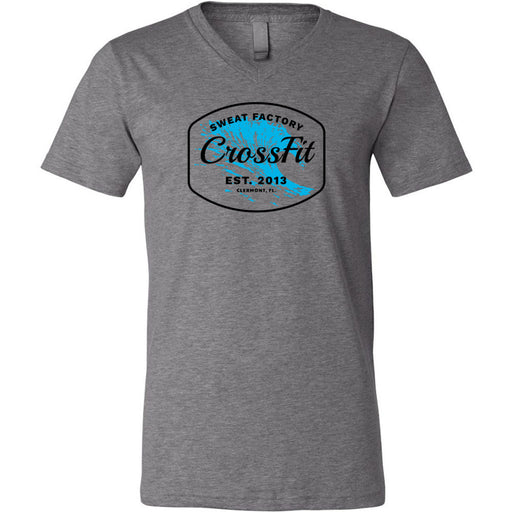 Sweat Factory CrossFit - 100 - KK4 - Bella + Canvas - Men's Short Sleeve V-Neck Jersey Tee
