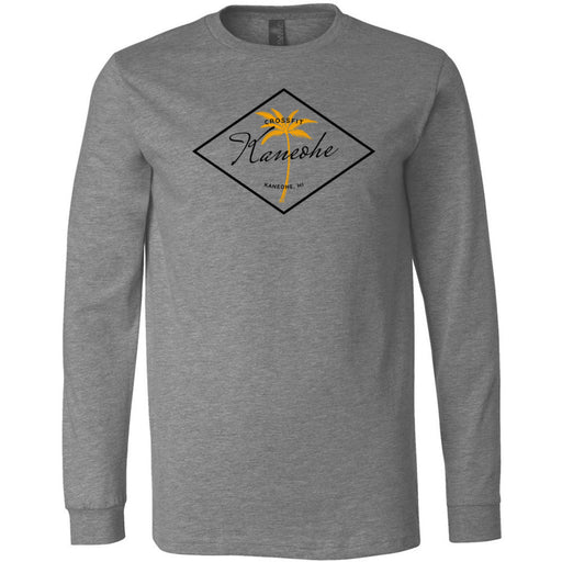 CrossFit Kaneohe - 100 - O2 - Bella + Canvas 3501 - Men's Long Sleeve Jersey Tee