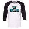 Carriage House CrossFit - 100 - Blue - Bella + Canvas - Men's Three-Quarter Sleeve Baseball T-Shirt