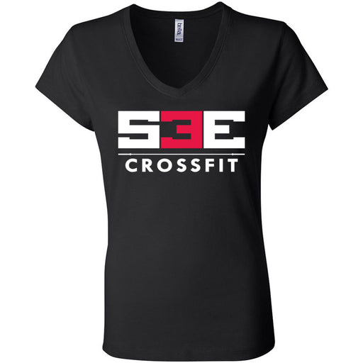 S3E CrossFit - 100 - Standard - Bella + Canvas - Women's Short Sleeve Jersey V-Neck Tee