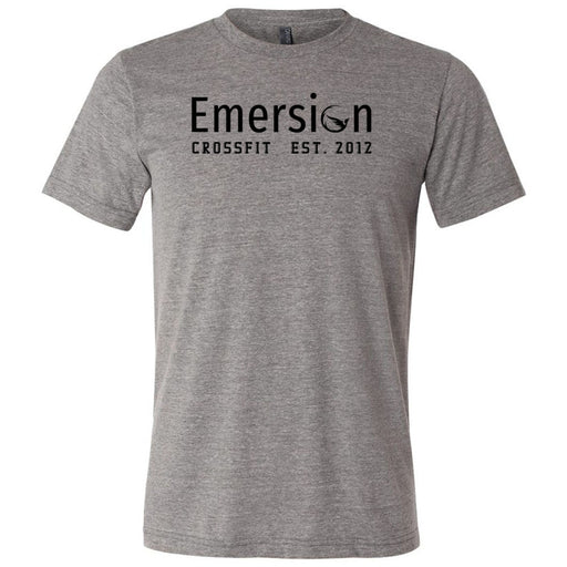 Emersion CrossFit - 100 - Black - Bella + Canvas - Men's Triblend Short Sleeve Tee