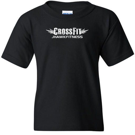 CrossFit Jhawkfitness - 100 - White - Gildan - Heavy Cotton Youth T-Shirt