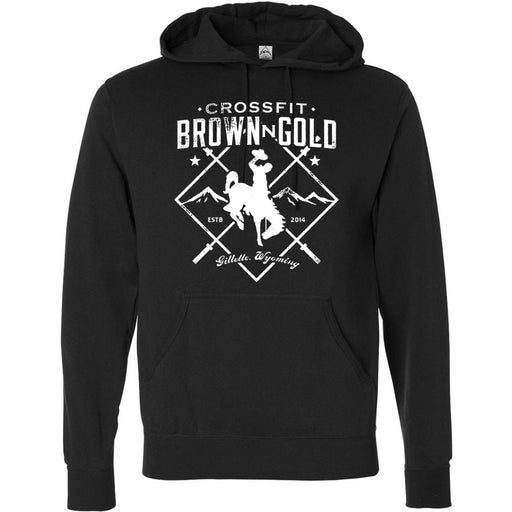 CrossFit BrownNGold - 100 - Standard - Independent - Hooded Pullover Sweatshirt