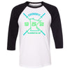 CrossFit 952 - 100 - MN Gradient - Bella + Canvas - Men's Three-Quarter Sleeve Baseball T-Shirt