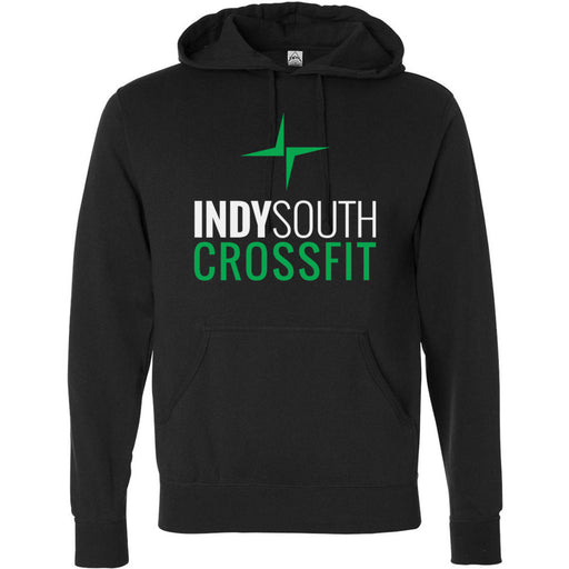 Indy South CrossFit - 100 - Stacked White - Independent - Hooded Pullover Sweatshirt