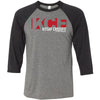 Kitsap CrossFit - 100 - Standard - Bella + Canvas - Men's Three-Quarter Sleeve Baseball T-Shirt