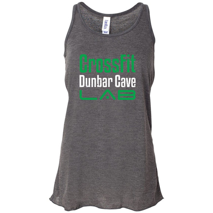 CrossFit Dunbar - 100 - Wordmark - Bella + Canvas - Women's Flowy Racerback Tank
