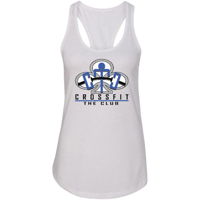 CrossFit The Club - 100 - Blue - Next Level - Women's Ideal Racerback Tank
