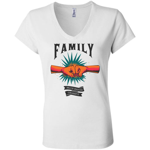 Brave Enough CrossFit - 100 - Family - Bella + Canvas - Women's Short Sleeve Jersey V-Neck Tee