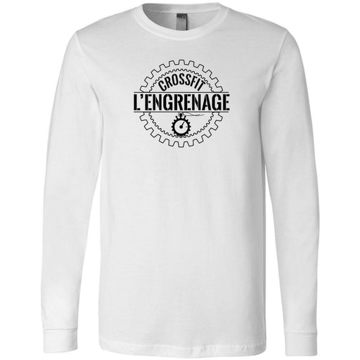 CrossFit L'Engrenage - 100 - Standard - Bella + Canvas 3501 - Men's Long Sleeve Jersey Tee