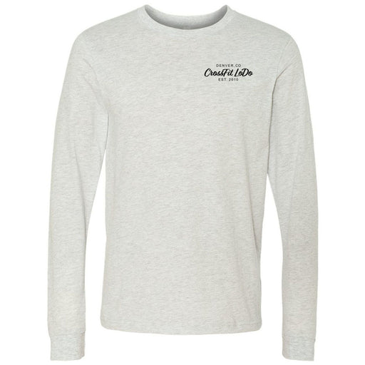 CrossFit Lodo - 100 - Pocket - Bella + Canvas 3501 - Men's Long Sleeve Jersey Tee