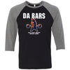 Wells Street CrossFit - 100 - DaBars - Bella + Canvas - Men's Three-Quarter Sleeve Baseball T-Shirt