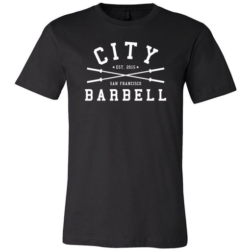 The City CrossFit - 200 - Barbell - Bella + Canvas - Men's Short Sleeve Jersey Tee