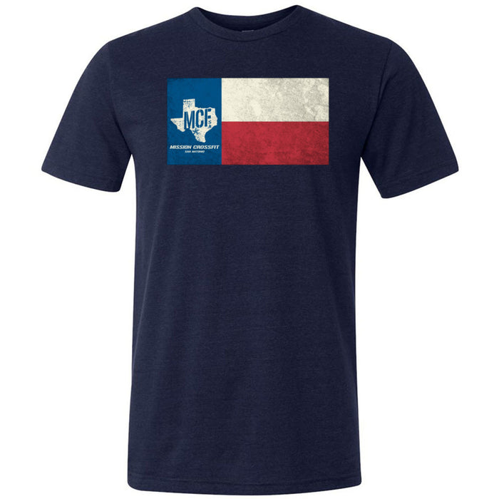 Mission CrossFit San Antonio - 100 - Flag - Bella + Canvas - Men's Triblend Short Sleeve Tee