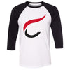 CrossFit Billings - 202 - C - Bella + Canvas - Men's Three-Quarter Sleeve Baseball T-Shirt