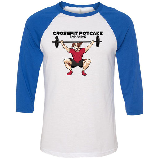 CrossFit Potcake - 100 - Bahamas - Bella + Canvas - Men's Three-Quarter Sleeve Baseball T-Shirt