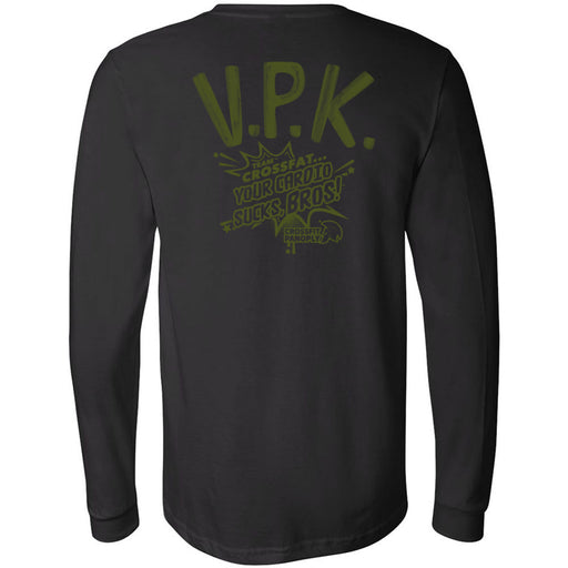 CrossFit Panoply - 202 - VPK Military Green - Bella + Canvas 3501 - Men's Long Sleeve Jersey Tee