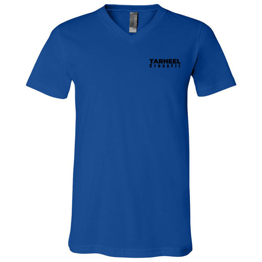 Tarheel CrossFit - 100 - Pocket - Bella + Canvas - Men's Short Sleeve V-Neck Jersey Tee