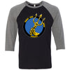 TSR CrossFit - 100 - Standard - Bella + Canvas - Men's Three-Quarter Sleeve Baseball T-Shirt