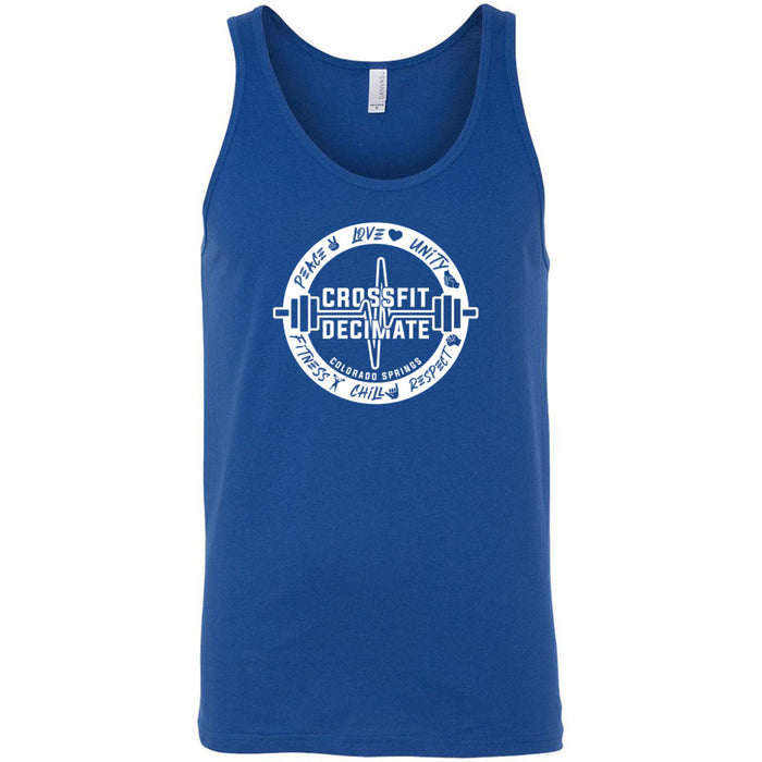 CrossFit Decimate - 100 - Standard - Bella + Canvas - Men's Jersey Tank